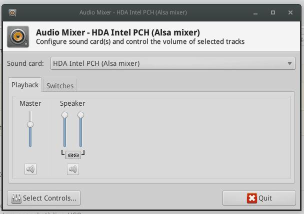 xfce4-mixer-panel